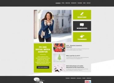 Neu gestaltete Website PM PR-PM PR Website